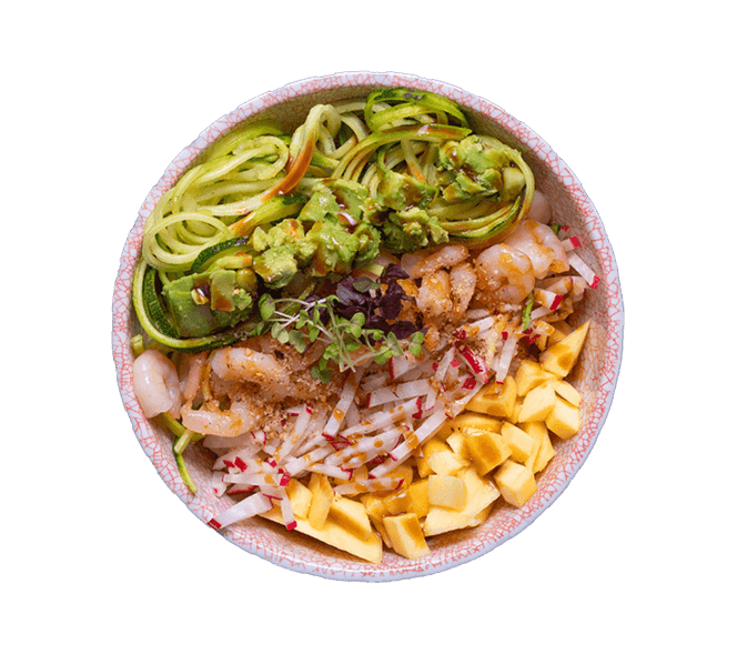 Kenny's Pokebowl Onu Prawn