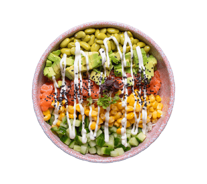 Kenny's Pokebowl Truffle Salmon